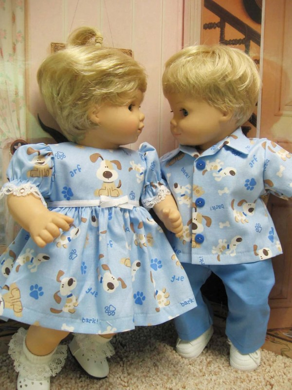 Items Similar Blue Doggie Outfits Bitty Baby Twins