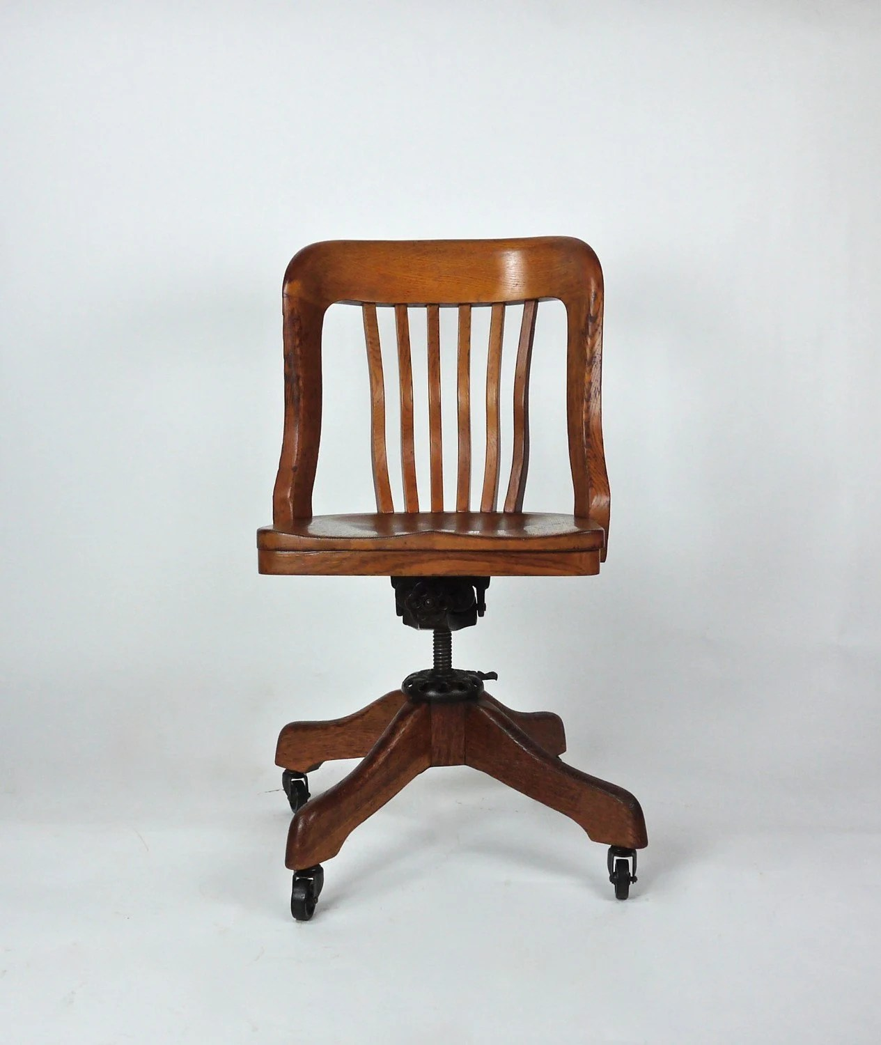 swivel hunting chairs used dining room table and antique milwaukee chair co oak deco desk office by dailymemorandum