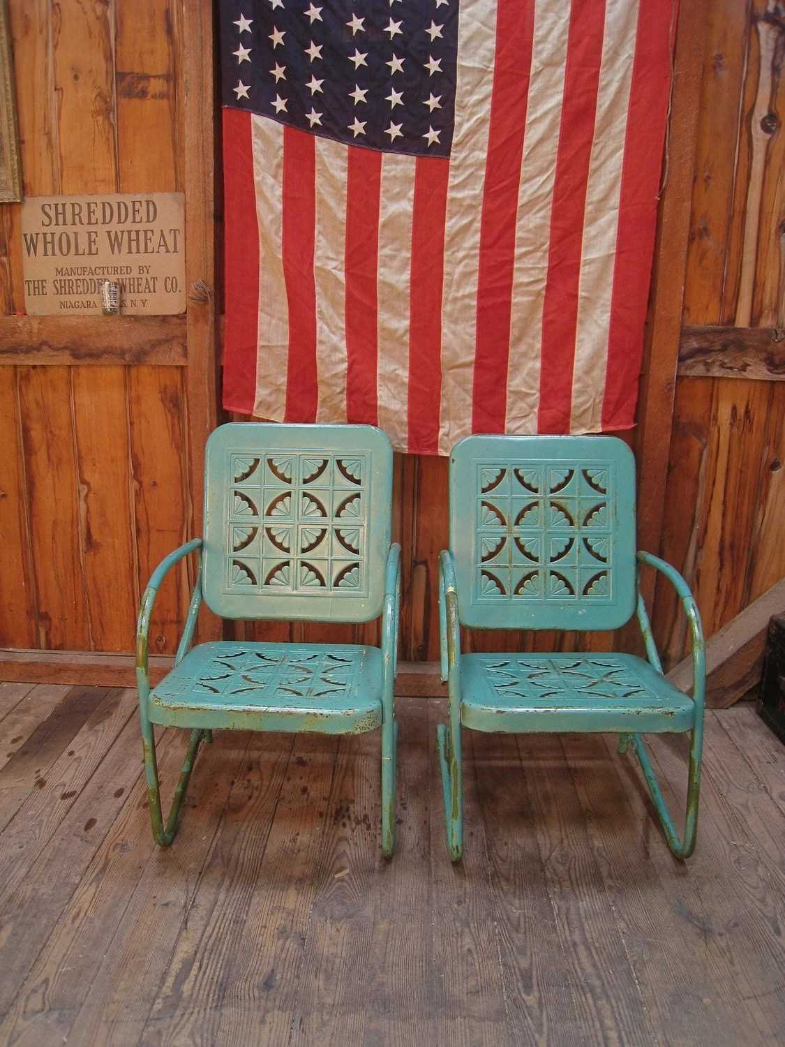 retro metal patio chairs madonna of the chair original vintage 1950s turquoise lawn porch