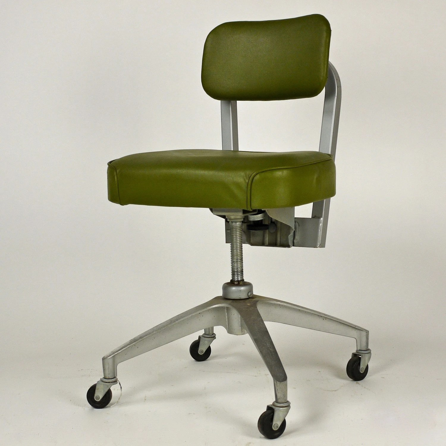 Vintage Swivel Chair Vintage 1950s Cole Steel Swivel Metal Office Desk Chair