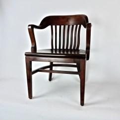 Vintage Wooden Chairs Bedroom Chair Black Antique Post War Office Library