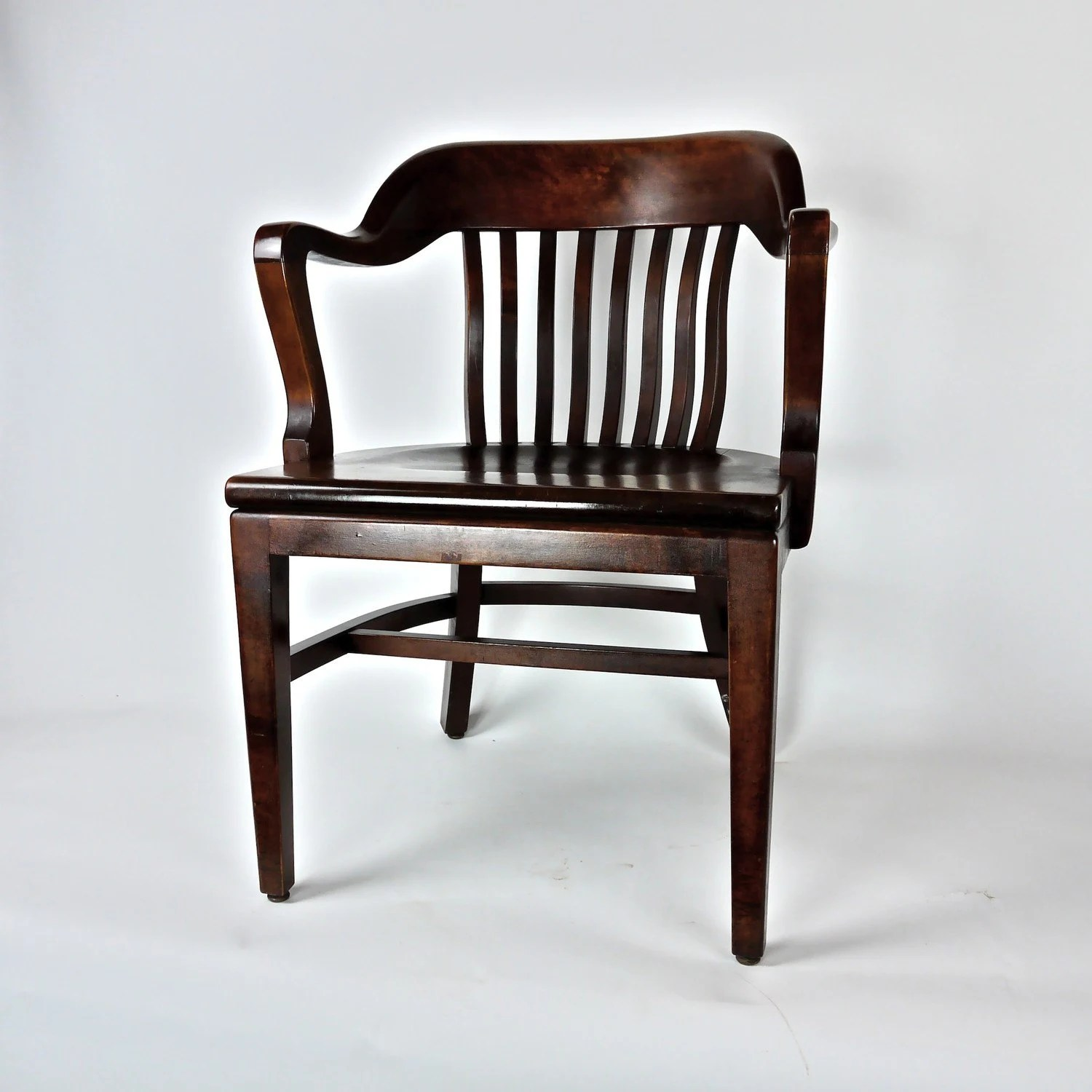Antique Wooden Chair Antique Post War Wooden Office Library Chair