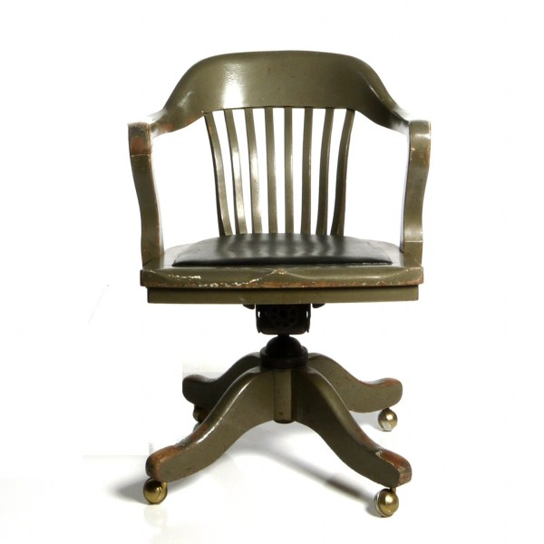 wooden office desk chairs Antique Deco Wooden Chair Swivel Office Desk by