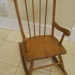 Alabama Rocking Chair Foam Sleeper Childs 1960s Solid Maple