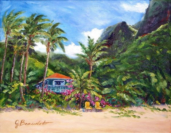 oil painting tropical hawaii landscape