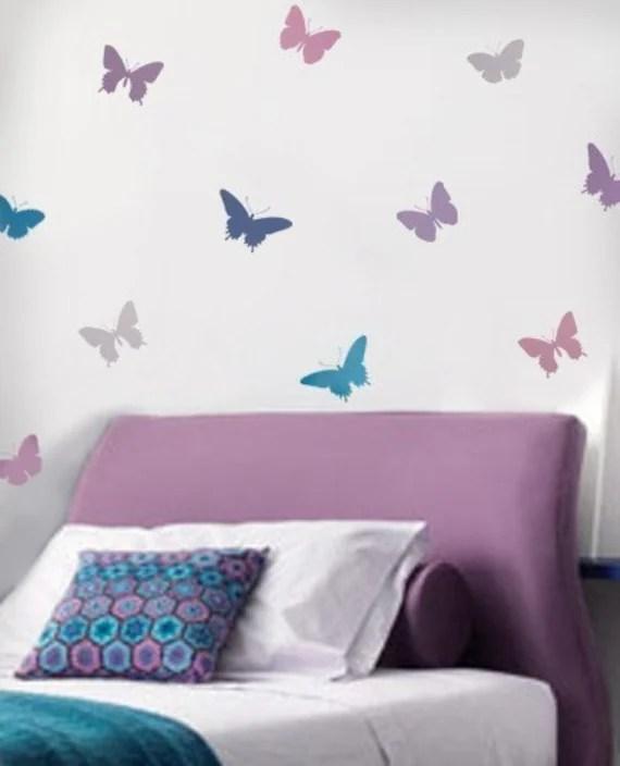 Butterfly Stencils 4pc Kit Easy Decor Nursery Kids Room