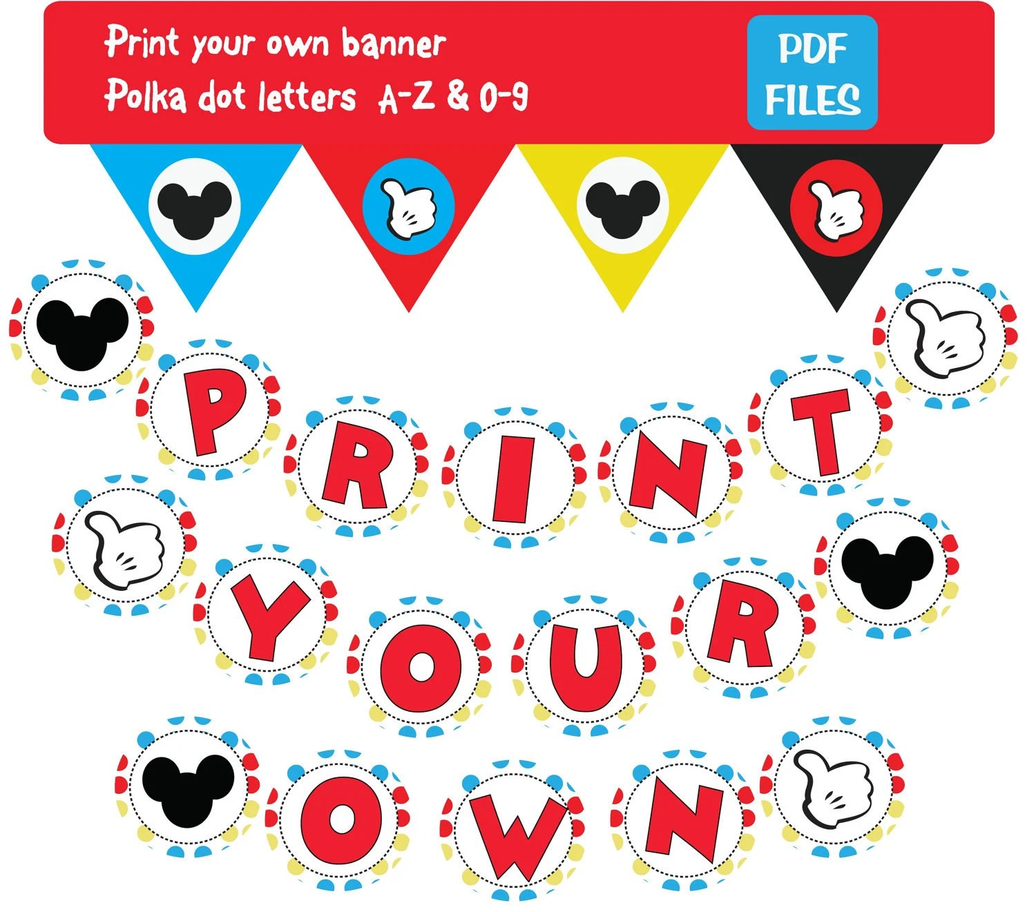 Printable Letter From Mickey Mouse Pictures To Pin On