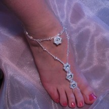 Bridals And Grooms Beach Party Models Beaded Sliver Foot