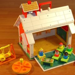 Fisher Price Swing Chair Diy Lawn Cushions Vintage Little People Family Play School House