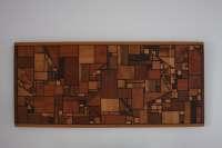 Vintage Mid Century Modern Wood Wall Art Hanging Geometric