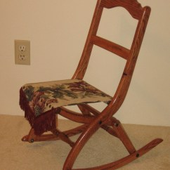 Folding Chair For Child Desk Teal Victorian Size Rocking