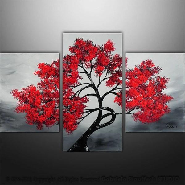 Abstract Modern Landscape Asian Tree Art Gabriela 36x24
