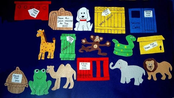 dear zoo flannel board felt story set and coloring pages