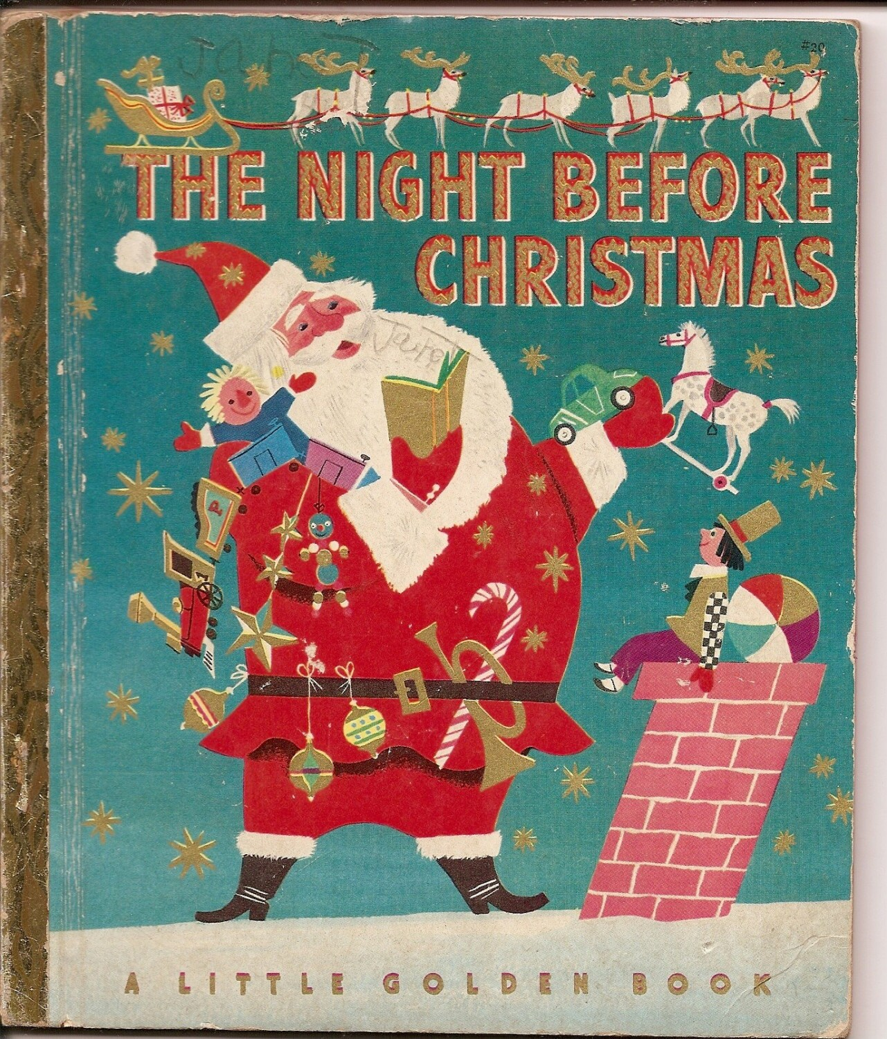Vintage Night Before Christmas Little Golden By