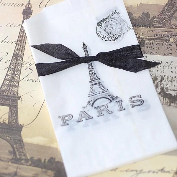 French Eiffel Tower Vellum Bags Frenchfleamarket