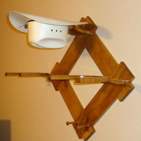 Cowboy Hat Rack Wood