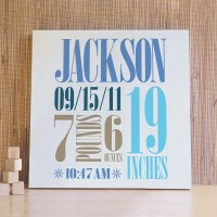 Personalized Baby Art Kids Wall Art Wall Decor for Baby