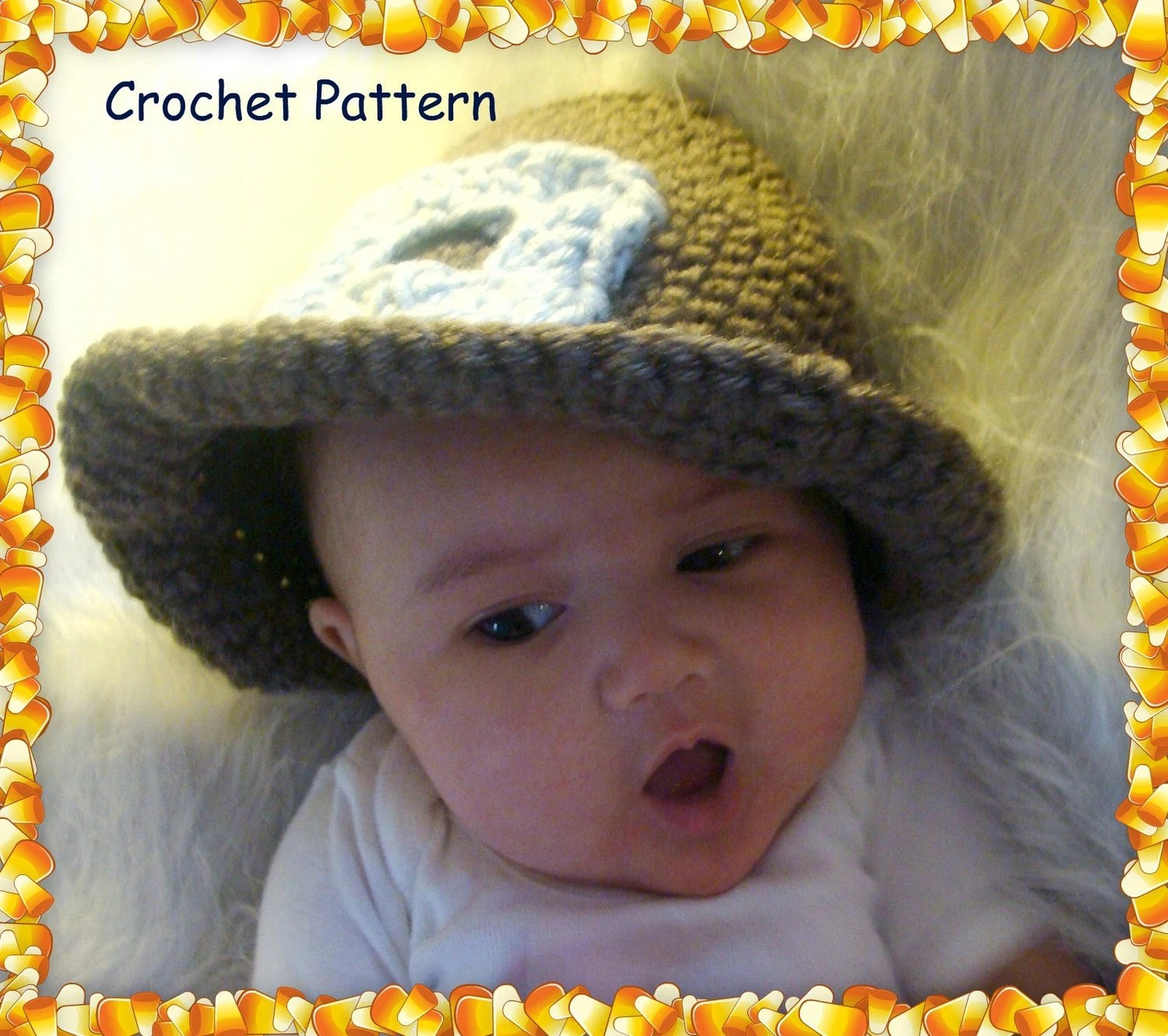 Pilgrim Hat and Collar Photo Props Crochet Pattern PDF 473 - SandysCapeCodOrig