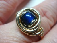 Mood Ring Gold Mood Ring 14K Gold Filled Ring Wire Wrapped
