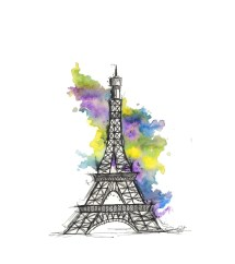 Eiffel Tower Illustration ' Paris Print