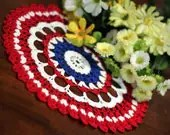Red,White and Blue Doily 2 - DoilyMania