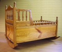 Items similar to Handmade Pilgrim Baby Cradle with Turned ...