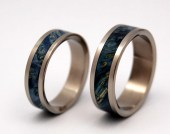 Starry Starry Night - Titanium Wedding Ring set - MinterandRichterDes