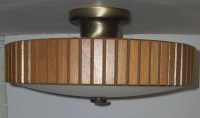 Mid Century Ceiling Light Fixture Space Age Flying Saucer