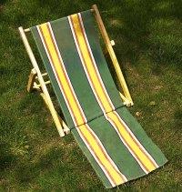 Vintage canvas beach chair