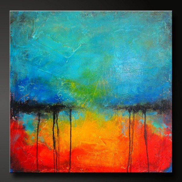 Oxidized Metal 12 Acrylic Abstract Painting 24 X