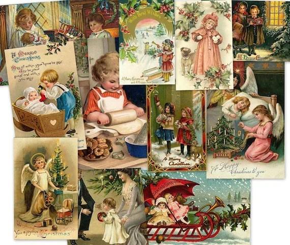 CD 2700 Vintage Victorian CHRISTMAS CHILDREN Kids Images