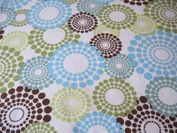 Mod BlueGreen Brown Swirls baby blanket Stroller by