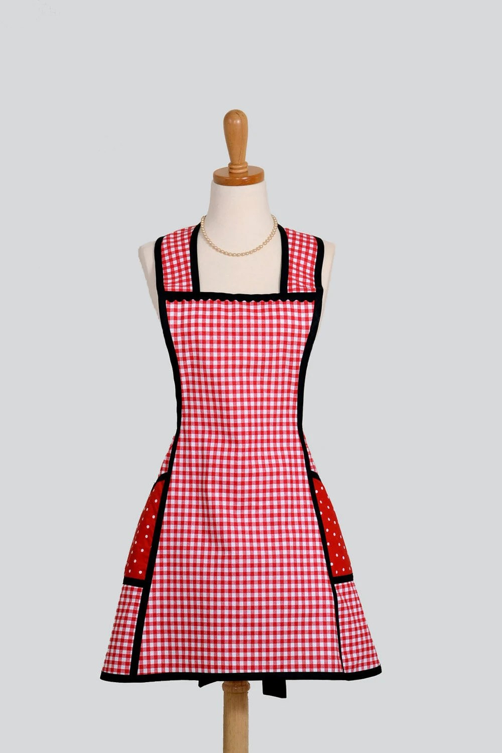 Vintage Inspired Apron  Sassy Short Retro Style by CreativeChics