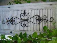 Large Black Architectural Iron Wall Scroll scrolly Sculpture