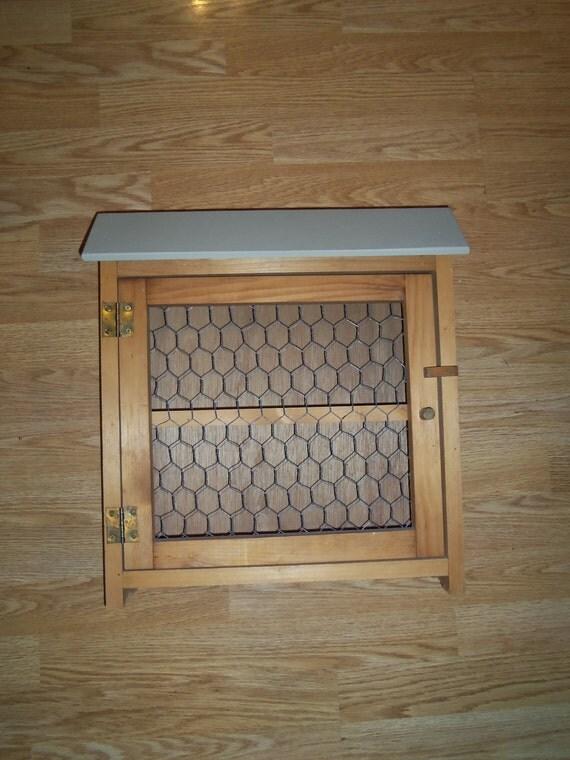 Handmade Farmhouse Wall Cabinet  medicine cabinet Curio Wire