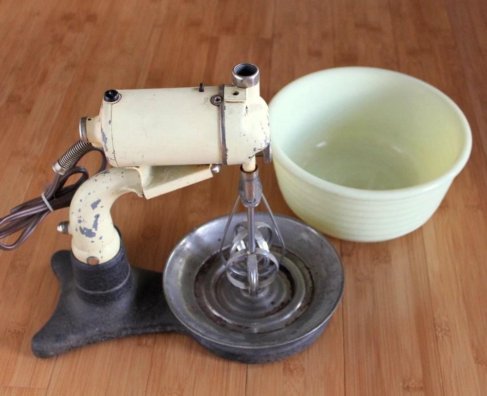 RARE Antique 1930s Hamilton Beach Stand Mixer and Hand Mixer