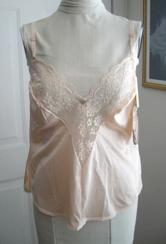 Bust Size 38 Chantilly Pink 80's Camisole by Maidenform