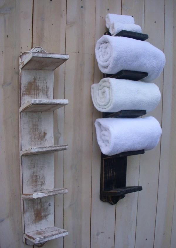Bathroom Towel Holder with Storage