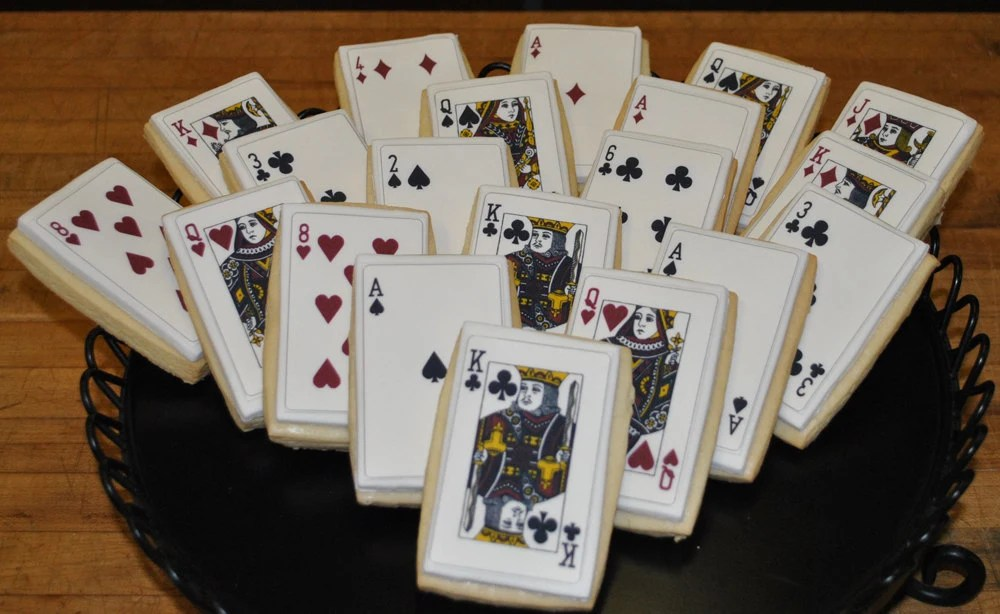 Playing Card Cookies 1 Dozen by baked on Etsy