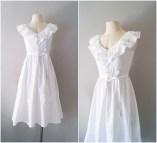 Long White Cotton Dress Sundress