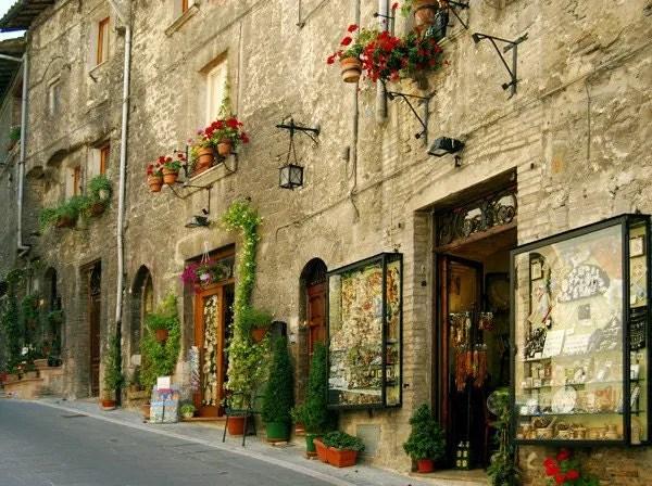 Assisi Street Perugia Italy