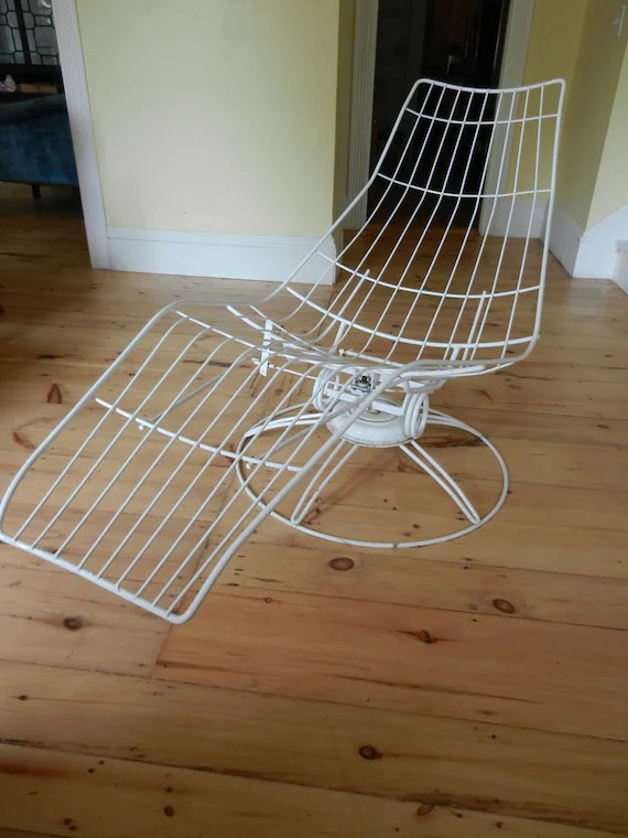 steel lounge chair game rocker reserved vintage midcentury homecrest wire outdoor chaise