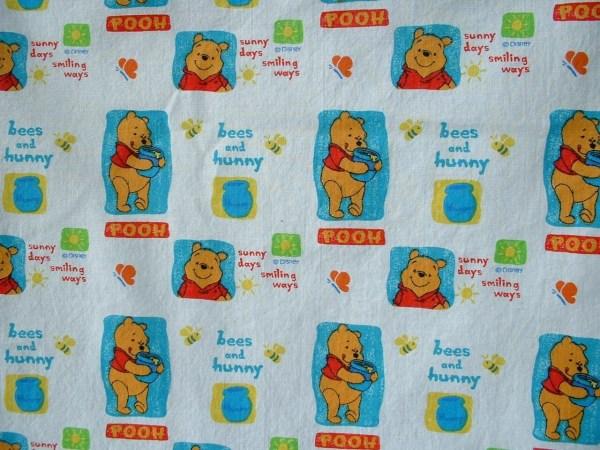 Cotton Fabric Winnie Pooh Bees & Hunny 1 Yard Sewcanyou