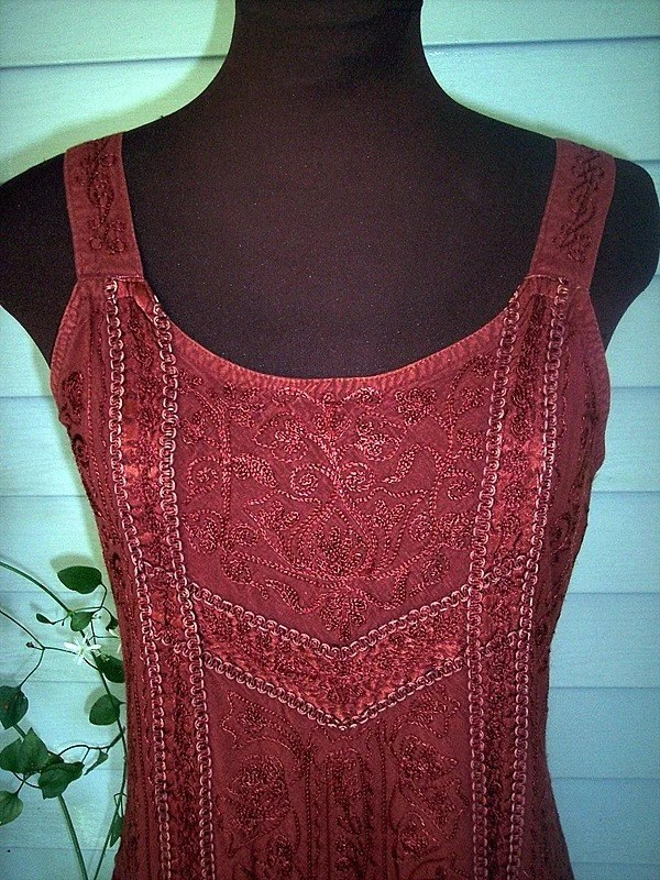 Vintage INDIAN Rayon MINI Jumper Dress Small by