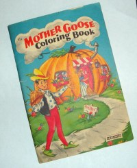 Vintage Mother Goose Nursery Rhymes Coloring Book Saulfield