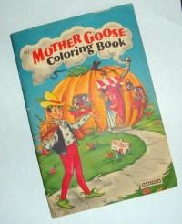 Vintage Mother Goose Nursery Rhymes Coloring Book Saulfield