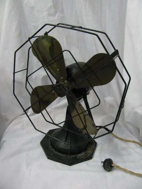 Vintage 20s 30s Electric Oscillating Fan Star Rite Fitzgerald