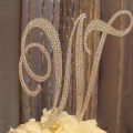 Items similar to 6 quot crystal monogram cake topper letter w on etsy