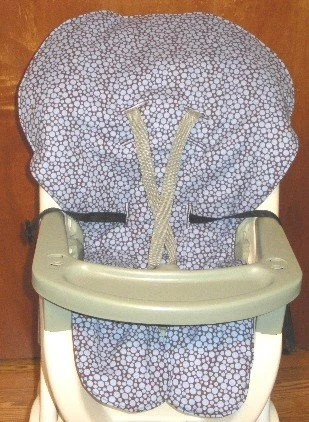 high chair pad graco louis xvi coverpad replacement busy blue dots on