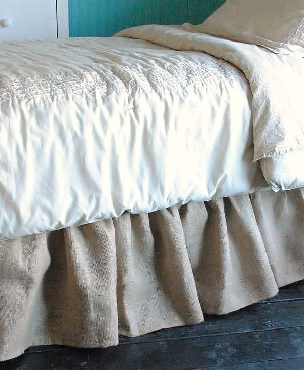 Burlap Bed Skirt Twin And Full Paulaanderika